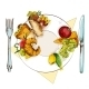 Healthy and Unhealthy Food - GraphicRiver Item for Sale