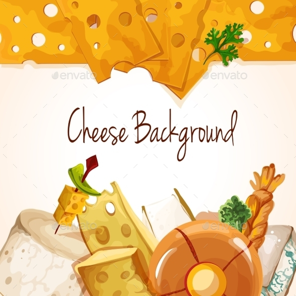 GraphicRiver Cheese Assortment Background 9542405