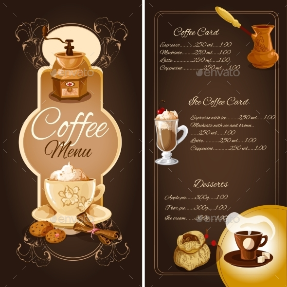 GraphicRiver Coffee Cafe Menu 9542473
