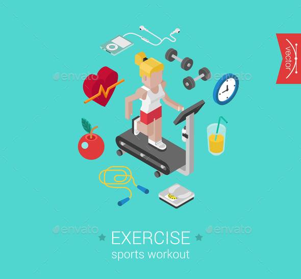 GraphicRiver Exercise Concept 9542484