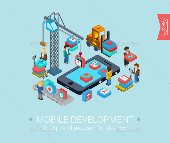 GraphicRiver Mobile Development Concept 9542488