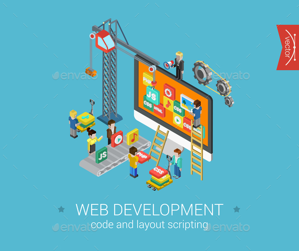 GraphicRiver Web Development Concept 9542489