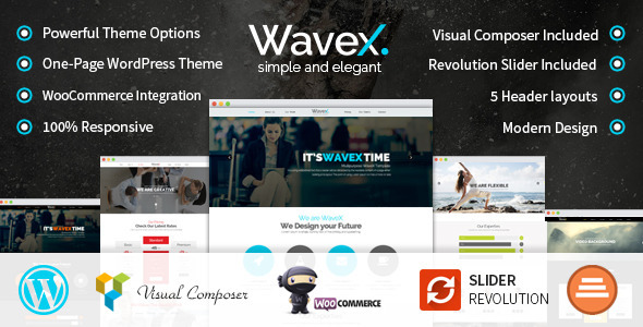 WaveX One Page Parallax WordPress Theme