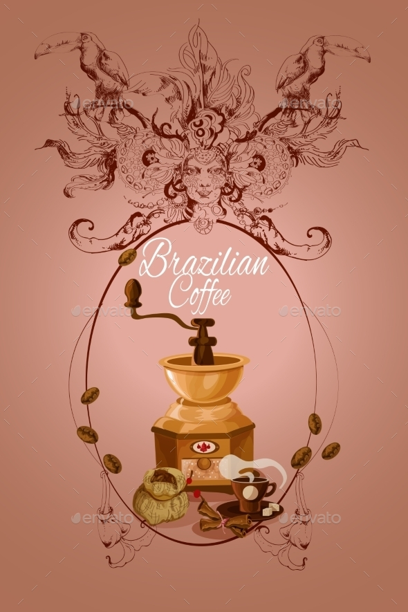 GraphicRiver Brazilian Coffee Poster 9542896