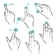 Touch Interface Gestures Icons - GraphicRiver Item for Sale