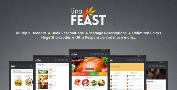 LinoFeast: Restaurant Responsive Wordpress Theme