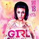Girl Power Party PSD Flyer Template - GraphicRiver Item for Sale