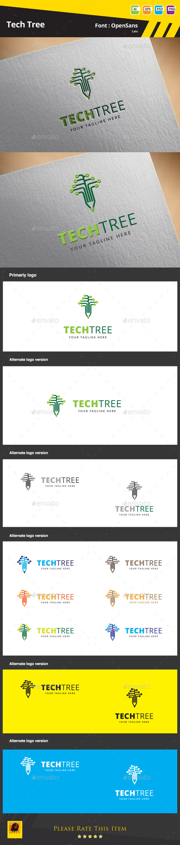 GraphicRiver Tech Tree Logo Template 9543129