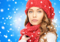close up of young woman in winter clothes - PhotoDune Item for Sale