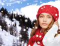 young woman in winter clothes - PhotoDune Item for Sale