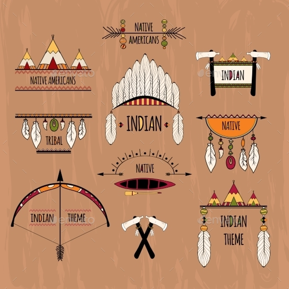 GraphicRiver Tribal Labels Set 9543388