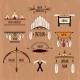 Tribal Labels Set - GraphicRiver Item for Sale