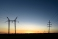Large transmission towers at sunset - PhotoDune Item for Sale