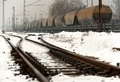 Railroad tracks in the snow - PhotoDune Item for Sale