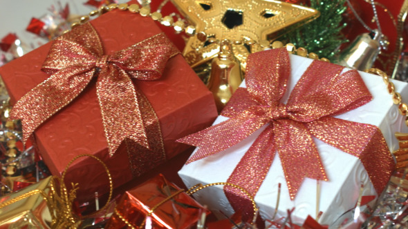 Gift Box And Christmas Decoration 03