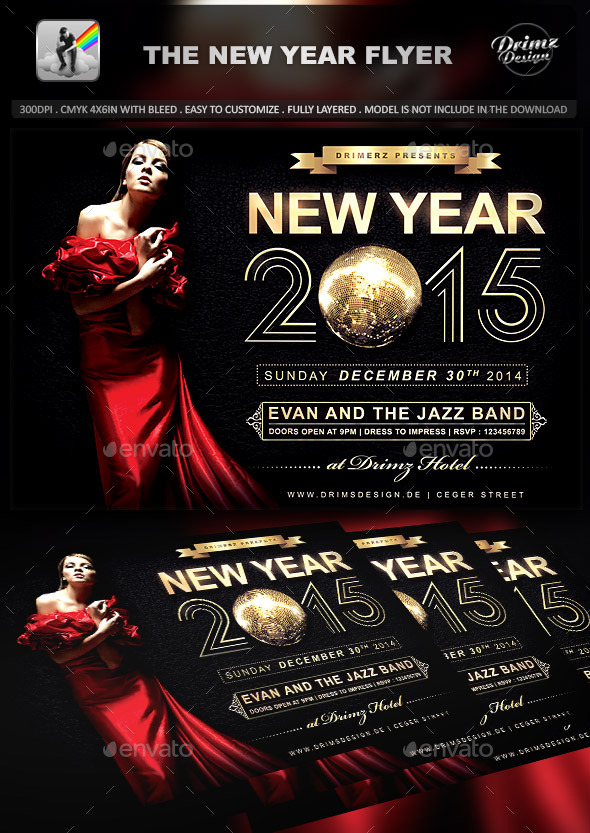 GraphicRiver The New Year Flyer 9544458