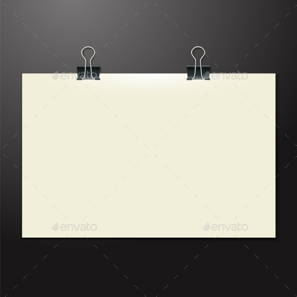 GraphicRiver Paper Sheet on the Wooden Tab 9544794