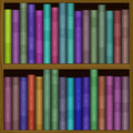 texture of funny color bookshelf, bookcase - PhotoDune Item for Sale