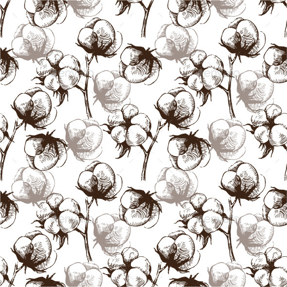 GraphicRiver Cotton Seamless Pattern 8819828