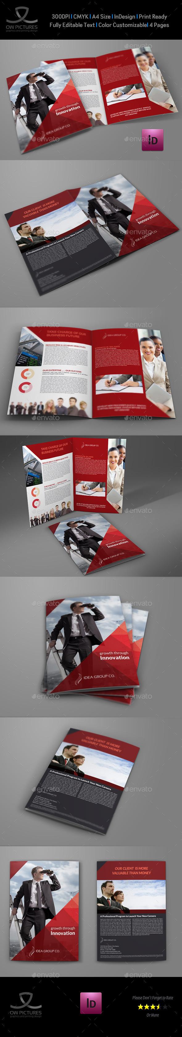GraphicRiver Company Brochure Bi-Fold Template Vol.37 9492956