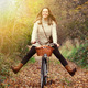 Beautiful woman enjoying nature driving bicycle - PhotoDune Item for Sale