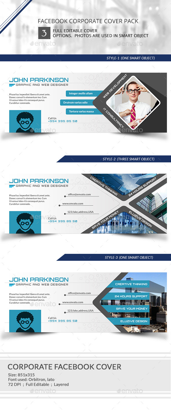 GraphicRiver Corporate Facebook timeline Cover 9545773