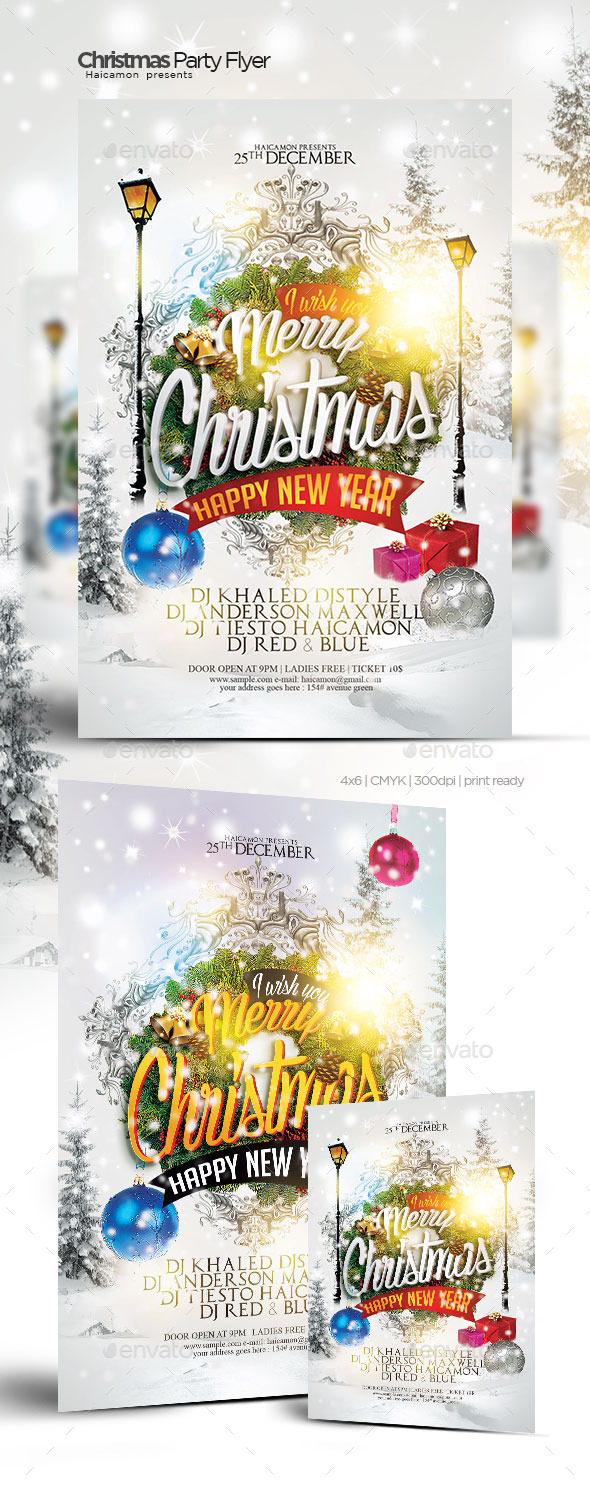 GraphicRiver Christmas Party Flyer 9545817