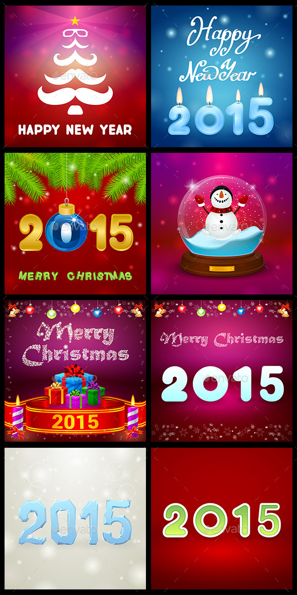 GraphicRiver Christmas Set 9545845