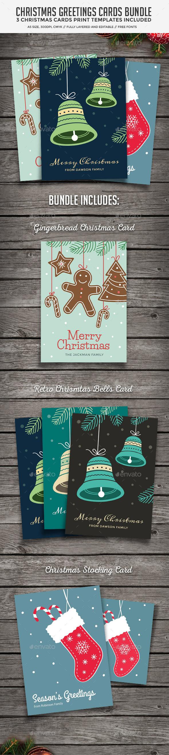 GraphicRiver Christmas Cards Bundle 9545849