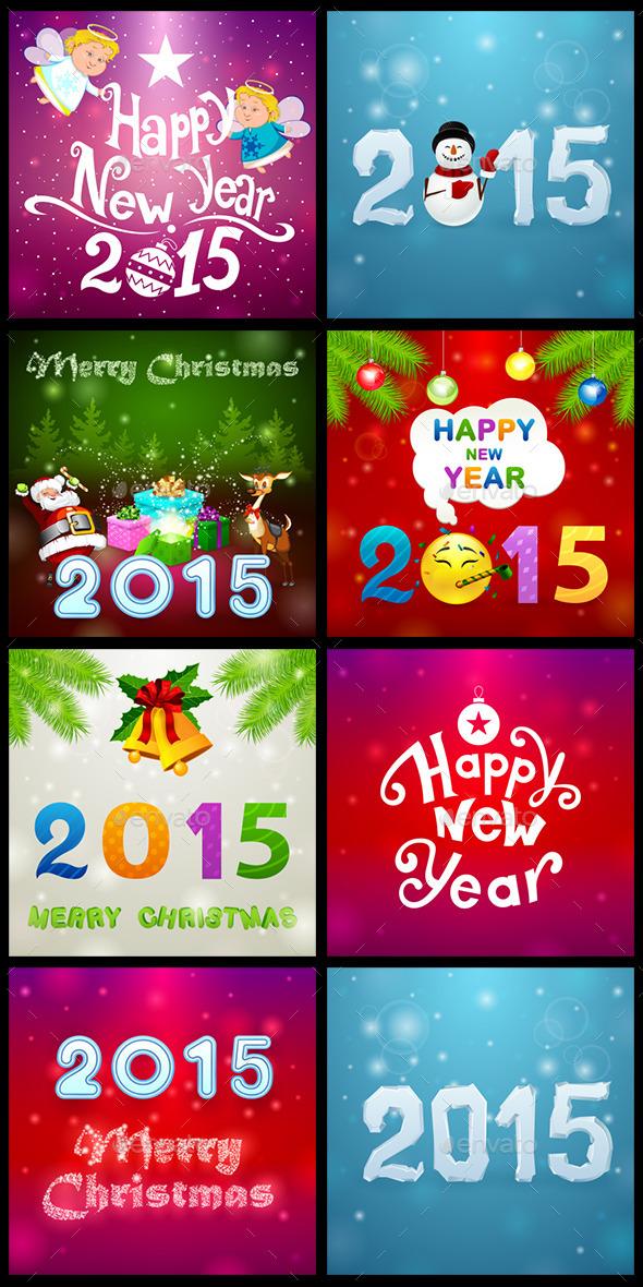 GraphicRiver Christmas Set 2 9545936