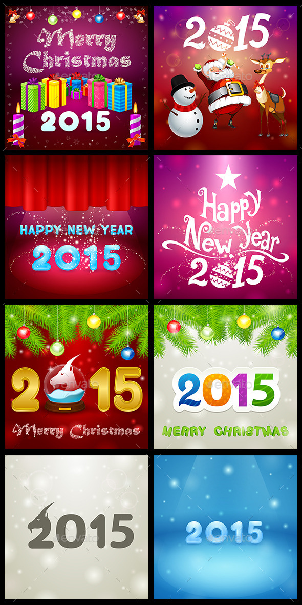 GraphicRiver Christmas Set 3 9546058