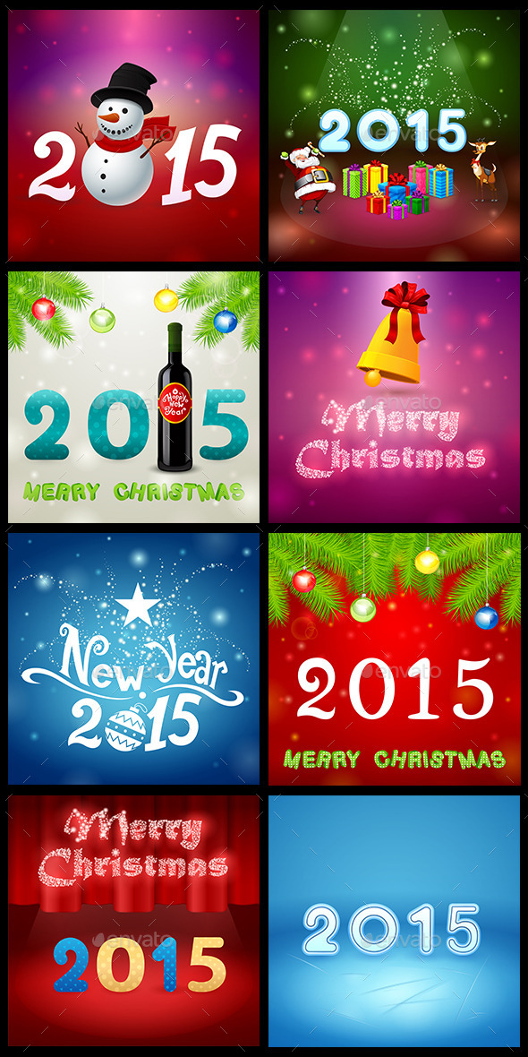 GraphicRiver Christmas Set 4 9546146