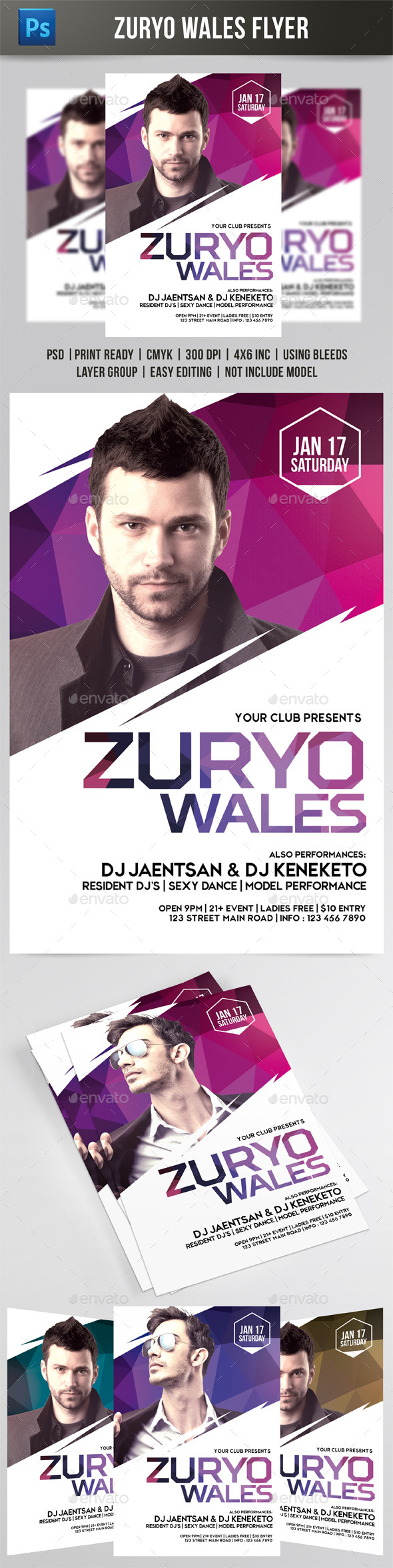 GraphicRiver Zuryo Wales Flyer 9546899