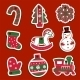 Christmas Tags or Stickers for Gifts  - GraphicRiver Item for Sale