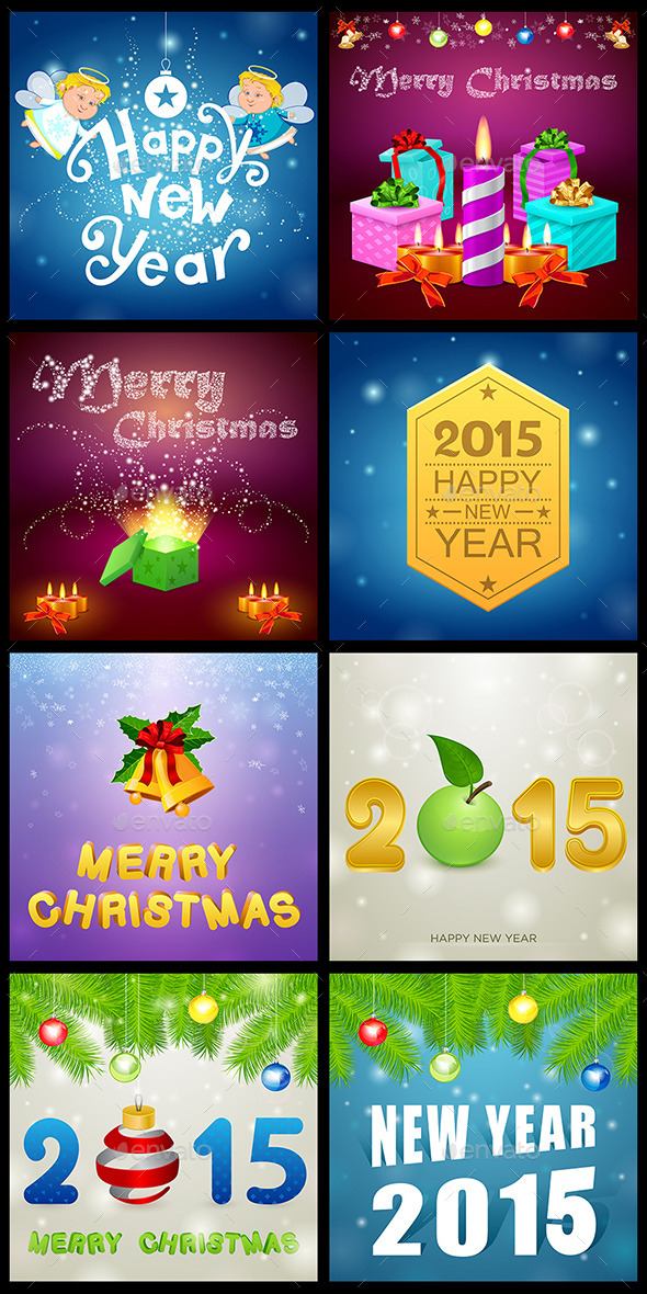 GraphicRiver Christmas Set 7 9547495