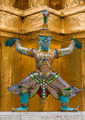 The colourful giant statue around golden pagoda at Wat Phra Kaew, Bangkok - PhotoDune Item for Sale