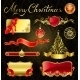 Christmas Golden Design Elements - GraphicRiver Item for Sale