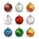 Set of Nine Christmas Baubles - GraphicRiver Item for Sale