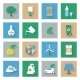 Ecology Flat Icons Set with Shadows - GraphicRiver Item for Sale