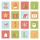 Christmas and New Year Flat Icons Set with Shadows - GraphicRiver Item for Sale