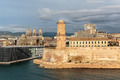 View of the old port and Fort Saint Jean in Marseille, France - PhotoDune Item for Sale