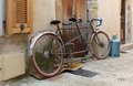 Bicycle on the old street in the village Coaraze, France - PhotoDune Item for Sale