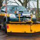 Car with plow-frame. Winter road services are ready for winter. - PhotoDune Item for Sale