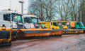 Road services are ready for winter. Winter service vehicles. - PhotoDune Item for Sale