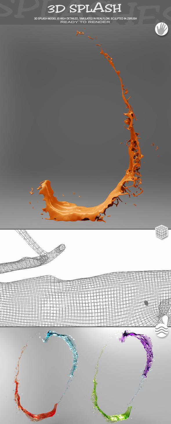 HD Water Paint Liquid Splash 16 - 3DOcean Item for Sale