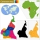 Cameroon Map - GraphicRiver Item for Sale
