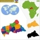 Central African Republic Map - GraphicRiver Item for Sale