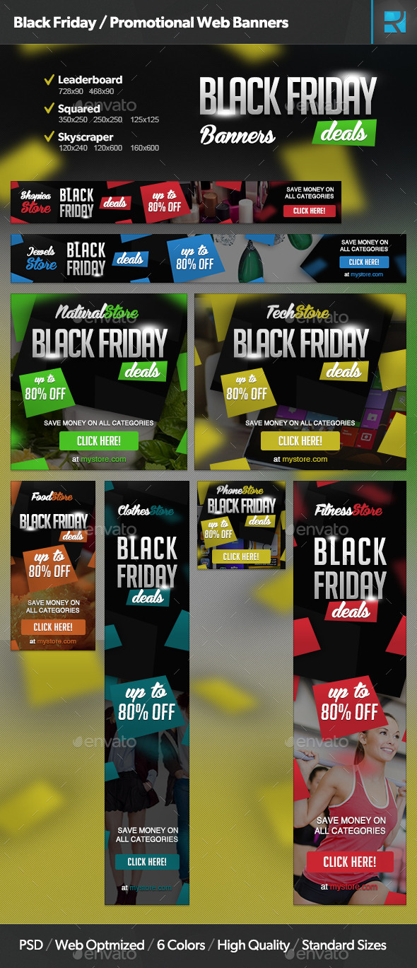GraphicRiver Black Friday Promotional Web Banners 9549282