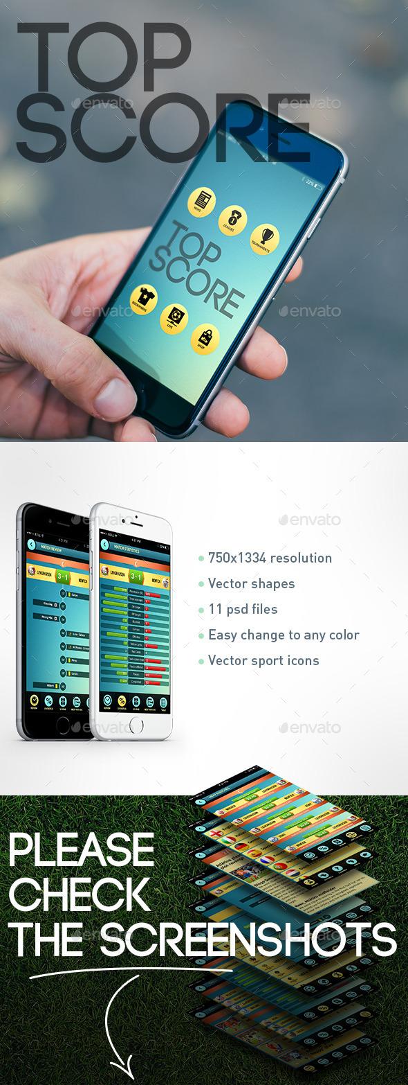 GraphicRiver Sport App UI 9549708