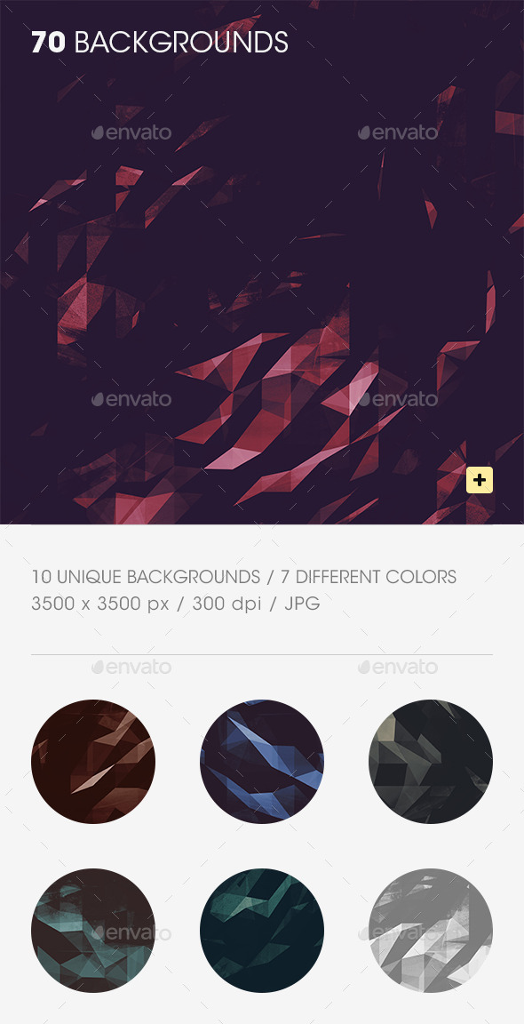 GraphicRiver Grunge Polygon Backgrounds 9550112